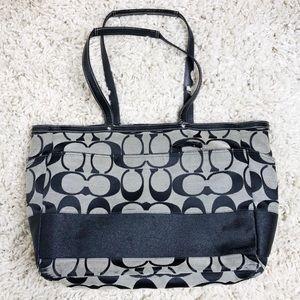 Coach Extra Large Signature Stripe Tote Bag